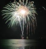 Embarcadero de la marina de guerra de los fuegos artificiales Foto de archivo libre de regalías