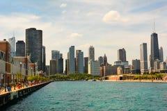 Embarcadero de la marina de guerra del horizonte de Chicago Imagen de archivo