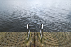 Embarcadero de la natación en el lago fotos de archivo libres de regalías
