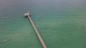 Embarcadero de la pesca de Sunny Isles Beach almacen de video