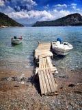 Embarcadero de la playa Imagen de archivo