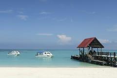Embarcadero de la playa Imagen de archivo libre de regalías