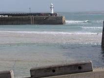 Embarcadero de la playa Imagenes de archivo