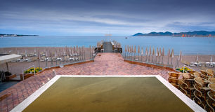 Embarcadero de la playa Imágenes de archivo libres de regalías