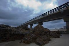 Embarcadero de la playa Fotografía de archivo