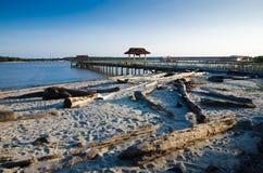 Embarcadero de la playa de Bernas imágenes de archivo libres de regalías