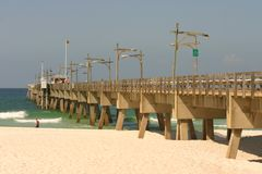 Embarcadero de la playa de Panama City Imagen de archivo libre de regalías