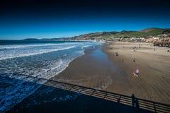 Embarcadero de la playa de Pismo foto de archivo libre de regalías
