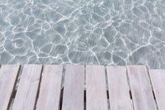 Embarcadero de la playa de Platja de Alcudia en Mallorca Majorca Foto de archivo