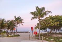 Embarcadero de la playa del pompano Foto de archivo