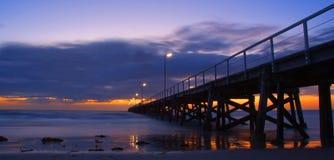 Embarcadero de la puesta del sol Foto de archivo libre de regalías