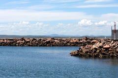 Embarcadero de la roca Foto de archivo libre de regalías