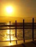 Embarcadero de la salida del sol imagen de archivo