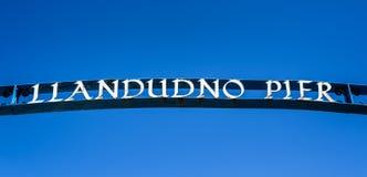 Embarcadero de Llandudno Imágenes de archivo libres de regalías