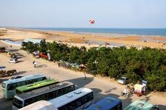 Embarcadero de los pescados en Shandong China costera Fotografía de archivo