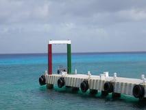 Embarcadero de los zambullidores en el Yucatán fotos de archivo libres de regalías