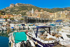Embarcadero de Mónaco Imagenes de archivo