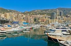Embarcadero de Mónaco Fotos de archivo libres de regalías