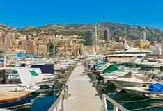 Embarcadero de Mónaco Imágenes de archivo libres de regalías
