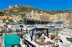 Embarcadero de Mónaco Foto de archivo