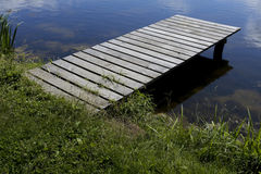 Embarcadero de madera vacío Foto de archivo libre de regalías