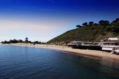 Embarcadero de Malibu, California, los E.E.U.U. Playa de estado de la laguna de Malibu fotos de archivo libres de regalías