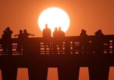 Embarcadero 2 de Nápoles de la puesta del sol Fotos de archivo libres de regalías