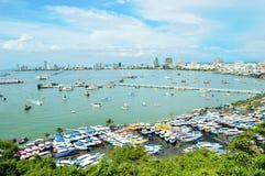 Embarcadero de Pattaya, Tailandia - de Bali Hai en Pattaya Imagen de archivo