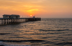 Embarcadero de Penarth en la salida del sol Foto de archivo libre de regalías