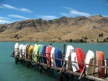 Embarcadero de Purau, Nueva Zelanda Fotos de archivo
