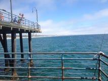 Embarcadero de Santa Mónica California Imagen de archivo