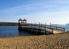 Embarcadero de Skocznia - de Olecko imagen de archivo libre de regalías