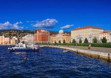 Embarcadero de Trieste fotos de archivo libres de regalías