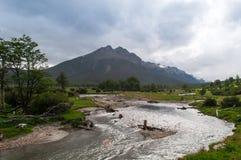 Embarcadero de Ushuaia, la Argentina Fotografía de archivo