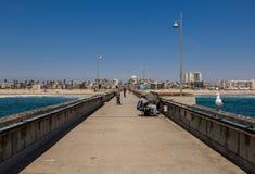 Embarcadero de Venecia, CA, Los Ángeles Imagenes de archivo