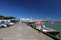 Embarcadero de Whakatane, Nueva Zelandia Fotografía de archivo
