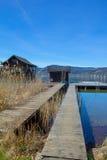 Embarcadero de Woerth del lago Imagen de archivo libre de regalías