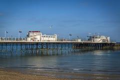 Embarcadero de Worthing, Sussex del oeste, Inglaterra, Reino Unido imagen de archivo libre de regalías