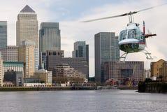 Embarcadero del canario del helicóptero Imagen de archivo