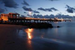 Embarcadero del golfo del pie DeSoto fotografía de archivo