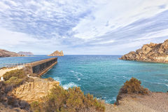 Embarcadero del Hornillo, abandoned 19th century pier. Bay of Hornillo at Aguilas on the Costa Calida with its 19th century pier Stock Images