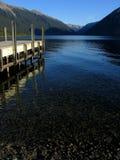 Embarcadero del lago Imagenes de archivo