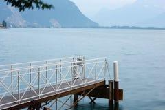 Embarcadero del lago lucerne Fotografía de archivo