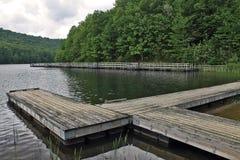 Embarcadero del lago summit Foto de archivo
