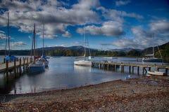 Embarcadero 3 del lago Windermere Foto de archivo