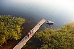Embarcadero del lago Zarasas Fotos de archivo
