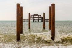 Embarcadero del oeste, Brighton, Reino Unido foto de archivo libre de regalías