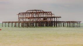 Embarcadero del oeste, Brighton, Reino Unido fotos de archivo libres de regalías