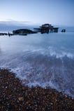 Embarcadero del oeste en el amanecer Foto de archivo