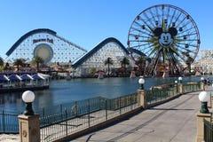 Embarcadero del paraíso en la aventura de California de Disney Foto de archivo